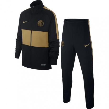 Nike Tuta Calcio Inter Strike Nero Oro Bambino