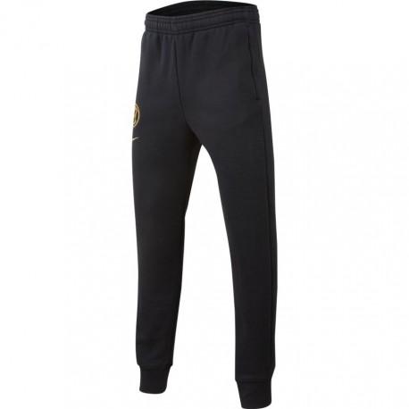 Nike Pantaloni Allenamento Calcio Inter Flc Nero Oro Bambino