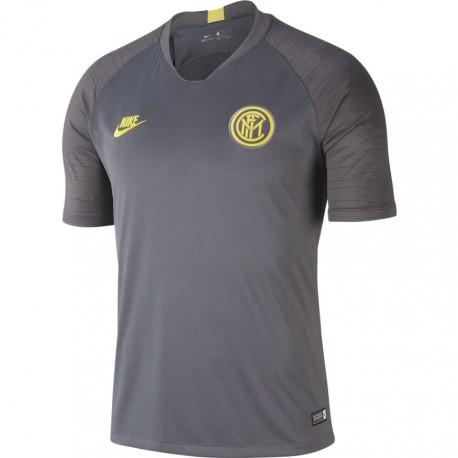 Nike Maglia Calcio Inter Strike Grigio Giallo Uomo