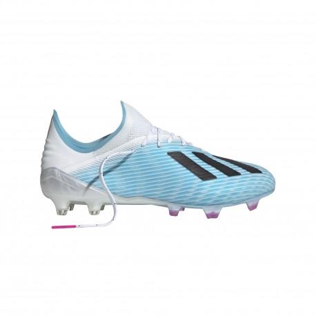 ADIDAS scarpe da calcio x 19.1 fg cyan nero rosa uomo