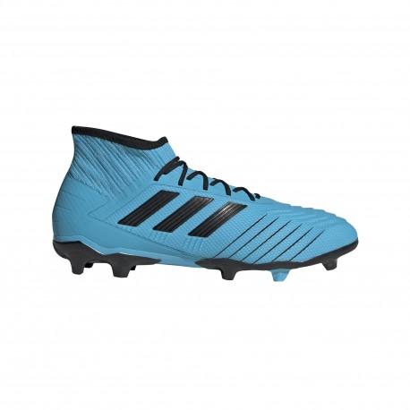 ADIDAS scarpe da calcio predator 19.2 fg cyan nero giallo uomo