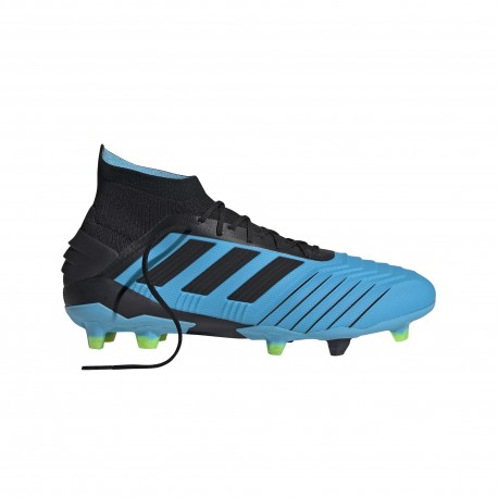 ADIDAS scarpe da calcio predator 19.1 fg cyan nero giallo uomo