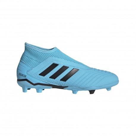 ADIDAS scarpe da calcio predator 19.3 ll fg cyan nero giallo bambino