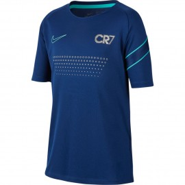 Nike Maglia Calcio Cr7 Dry Blu Silver Bambino