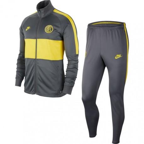 Nike Tuta Calcio Inter Strike Grigio Giallo Uomo