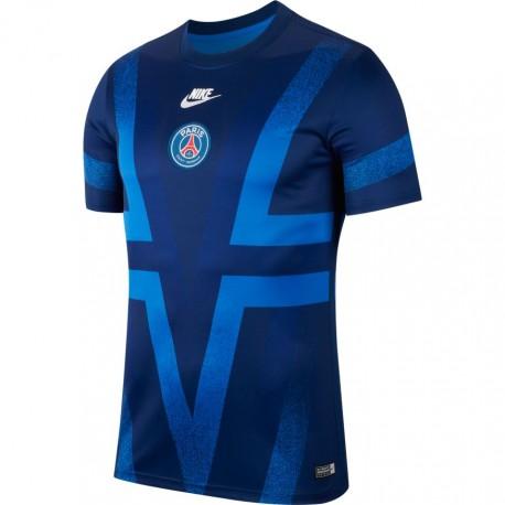 Nike Maglia Calcio Psg Pre Match Blu Royal Uomo