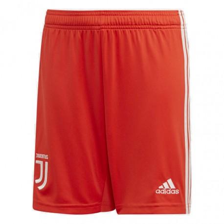 ADIDAS pantaloncini calcio juve away rosso bianco bambino