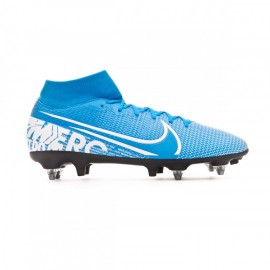 Nike Scarpe Da Calcio Superfly 7 Academy Sg Pro Ac Blu Bianco Uomo