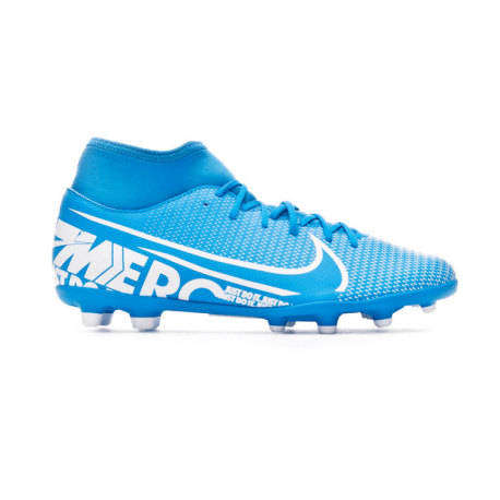 Nike Scarpe Da Calcio Superfly 7 Club Fg Mg Blu Bianco Uomo