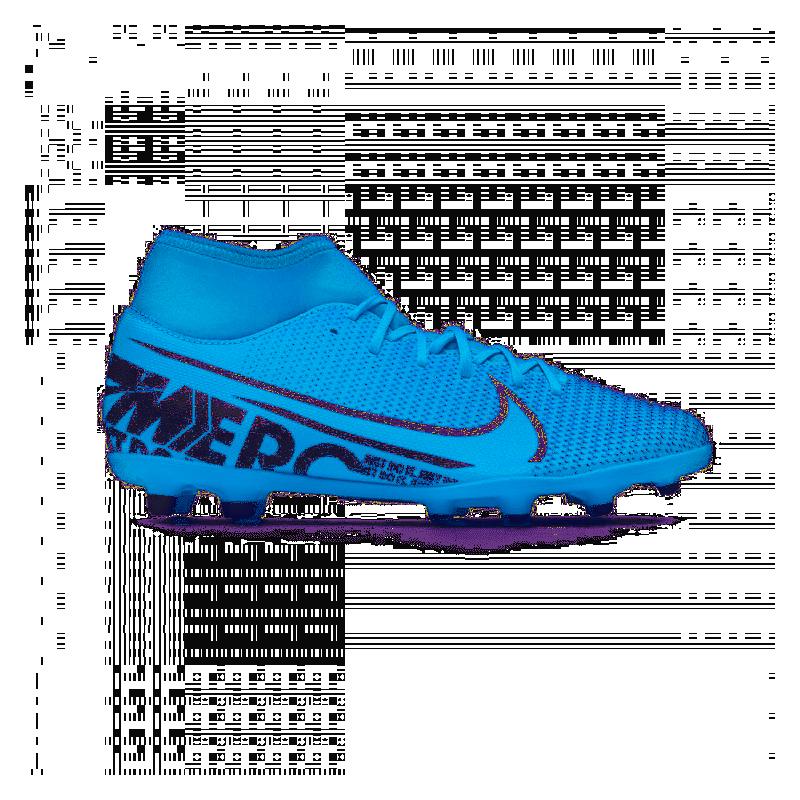 fama mondiale meticolosi processi di tintura rivenditore all'ingrosso Nike Scarpe Da Calcio Superfly 7 Club Fg Mg Blu Bianco Uomo