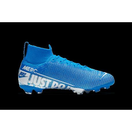 Nike Scarpe Da Calcio Superfly 7 Elite Fg Blu Bianco Bambino
