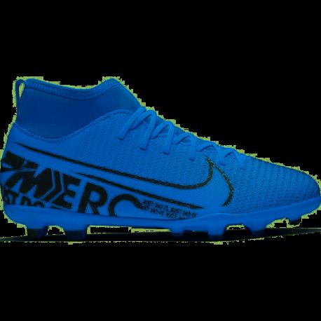 Nike Scarpe Da Calcio Superfly 7 Club Fg Mg Blu Bianco Bambino