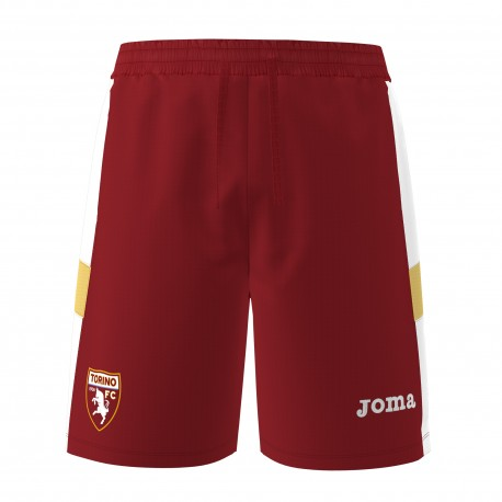 Joma Sport Pantaloncini Calcio Torino Granata Bianco Uomo