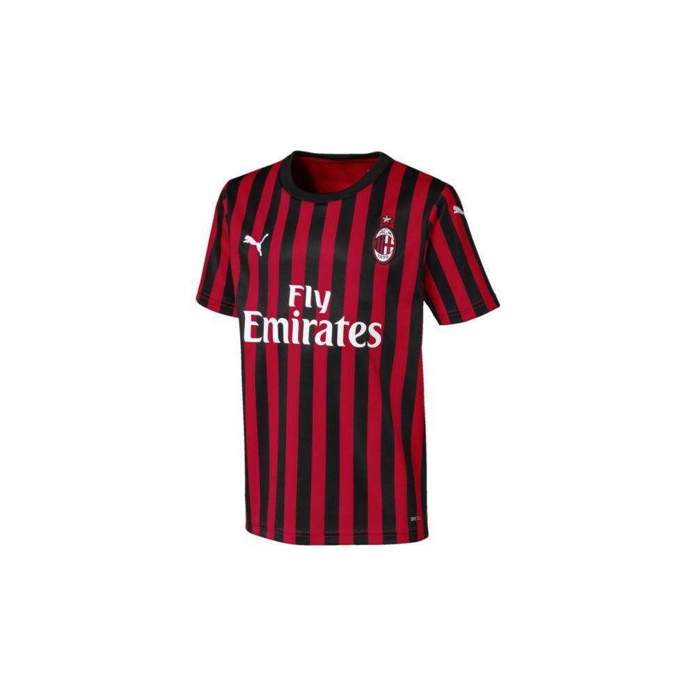 Puma Maglia Calcio Milan Home 19 20 Rosso Nero Bambino - Acquista ...