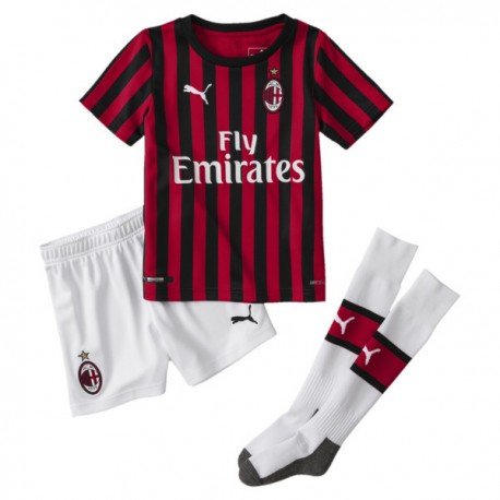 Puma Min Kit Milan Home 19 20 Rosso Nero Uomo