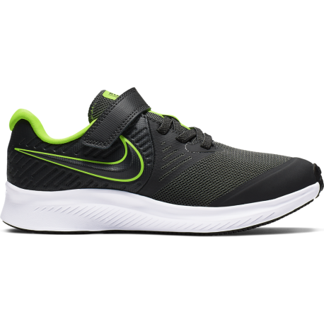 Nike Sneakers Star Runner 2 Psv Nero Lime Bambino