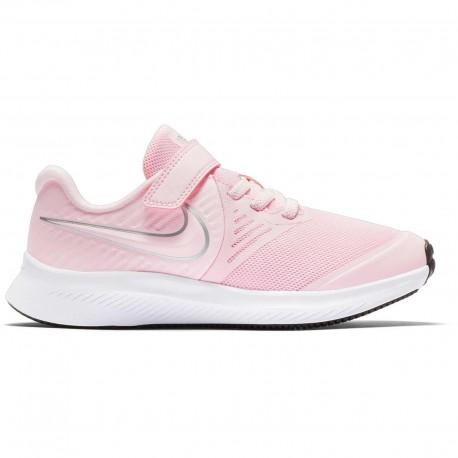Nike Sneakers Star Runner 2 Psv Rosa Argento Bambino