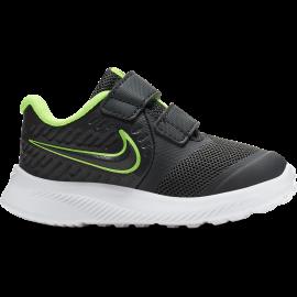 Nike Sneakers Star Runner 2 Tdv Nero Lime Bambino