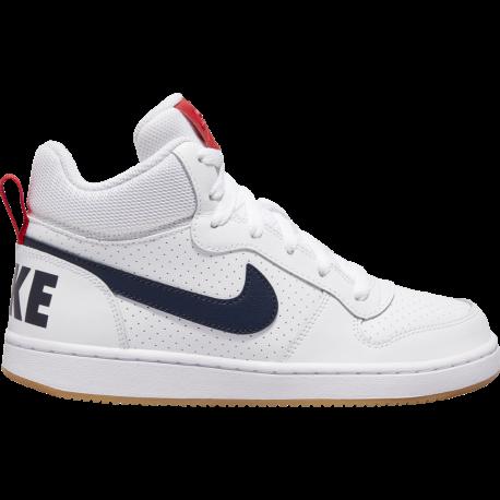 Nike Sneakers Court Borought Mid Gs Bianco Nero Bambino