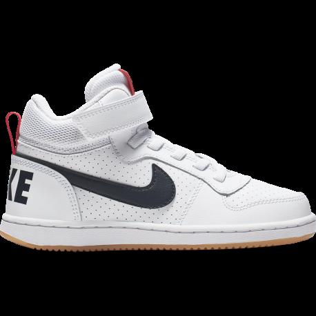 Nike Sneakers Court Borought Mid Psv Bianco Nero Bambino