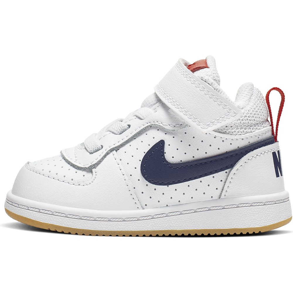 Nike Sneakers Court Borought Mid Tdv Bianco Nero Bambino