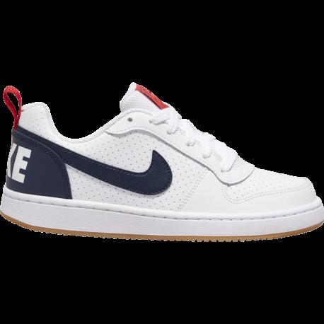 Nike Sneakers Court Borought Low Gs Bianco Nero Bambino