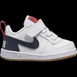 Nike Sneakers Court Borought Low Tdv Bianco Nero Bambino