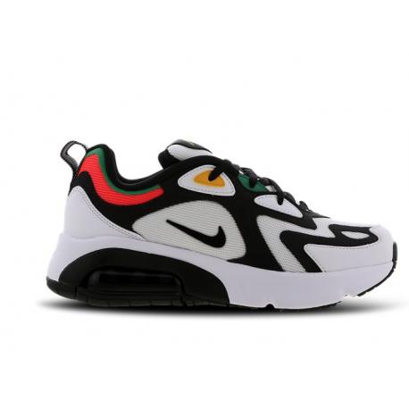 Nike Sneakers Air Max 200 Gs Bianco Nero Bambino