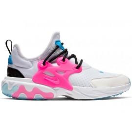 Nike Sneakers React Presto Gs Rosa Bianco Bambino