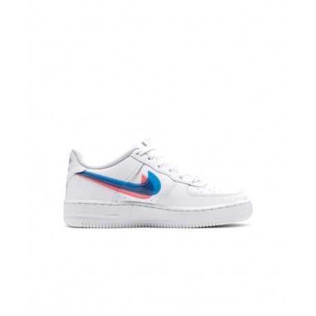 Nike Sneakers Air Force 1 Lv8 Ksa Gs Bianco Rosso Bambino