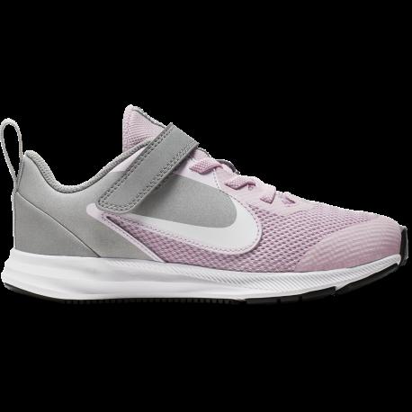 Nike Sneakers Downshifter 9 Psv Rosa Grigio Bambino