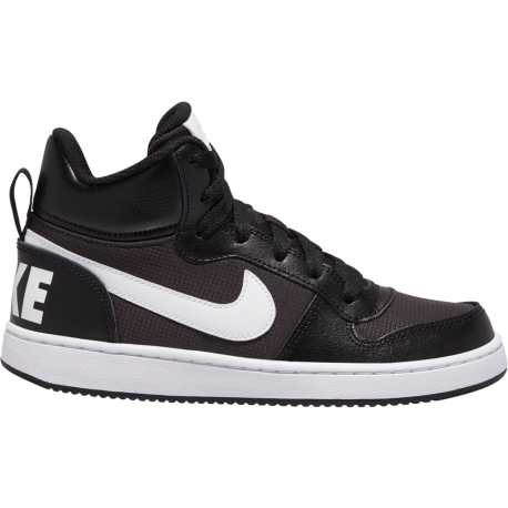 Nike Sneakers Court Borought Pe Mid Gs Nero Bianco Bambino