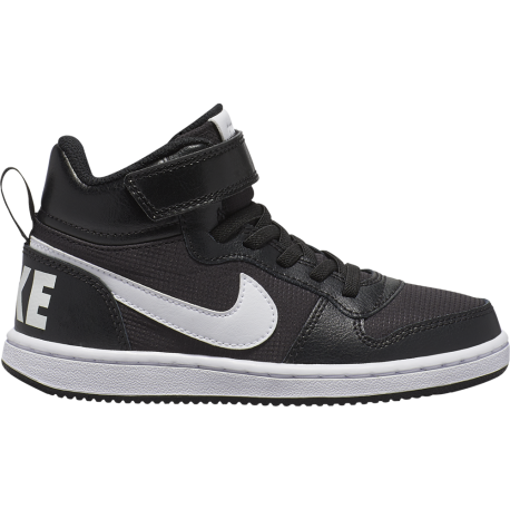 Nike Sneakers Court Borought Pe Mid Psv Nero Bianco Bambino