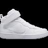 Nike Sneakers Court Borought Mid 2 Gs Bianco Bambino