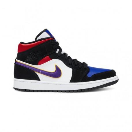 Nike Sneakers Air Jordan 1 Mid Se Nero Viola Uomo