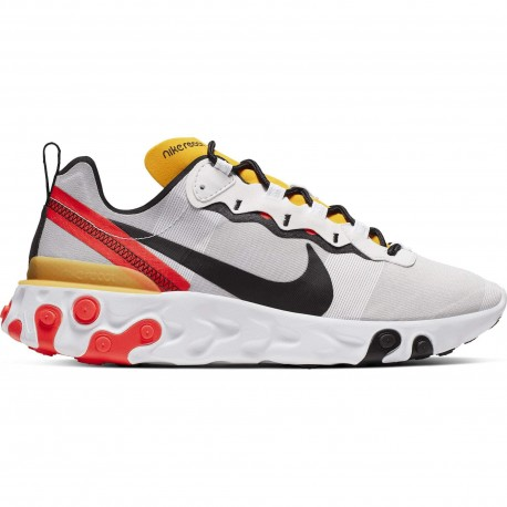 Nike Sneakers React Element 55 Bianco Nero Uomo