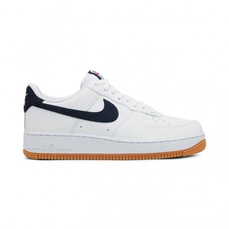 Nike Sneakers Air Force 1 07 Bianco Blu Uomo