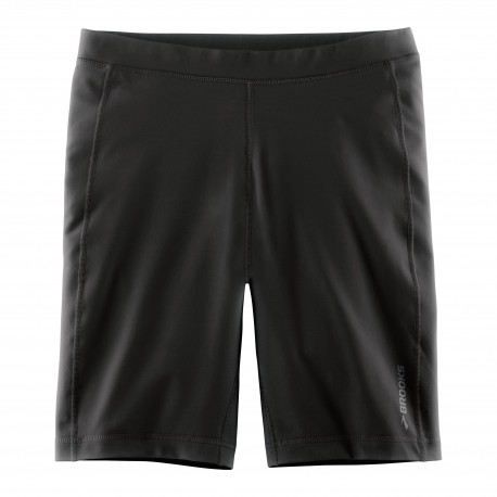 "Brooks Short Tight 9"" Run Greenlight Black"