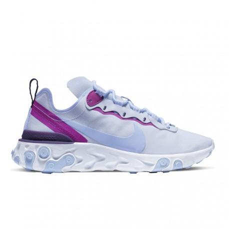 Nike Sneakers React 55 Grigio Viola Donna