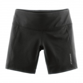 "Brooks Short Tight 7"" Run Greenlight Black Donna"