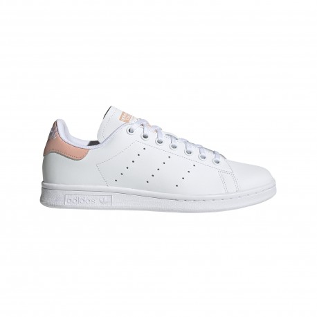 ADIDAS originals sneakers stan smith j scritta gs bianco rosa bambino