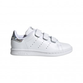 ADIDAS originals sneakers stan smith cf c ps bianco argento bambino