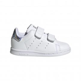 ADIDAS originals sneakers stan smith cf i td bianco argento bambino