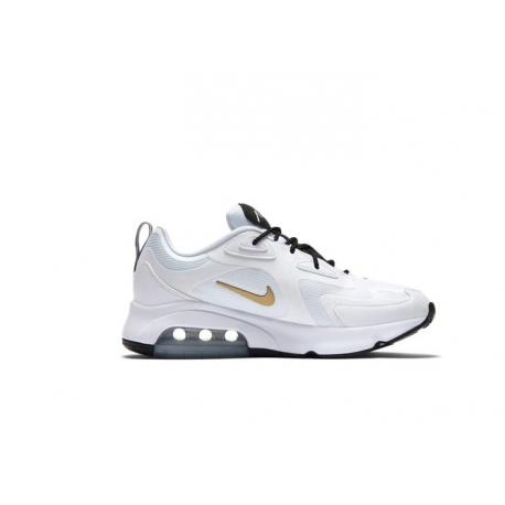 Nike Sneakers Air Max 200 Bianco Oro Uomo