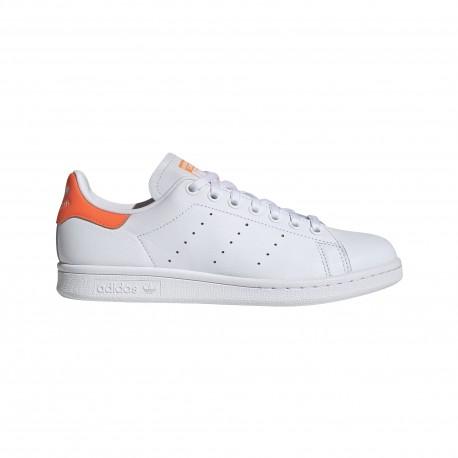 ADIDAS originals sneakers stan smith lea bianco arancio donna