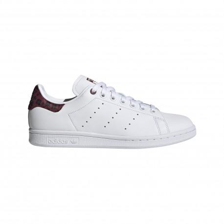 ADIDAS originals sneakers stan smith lea bianco bordeaux donna
