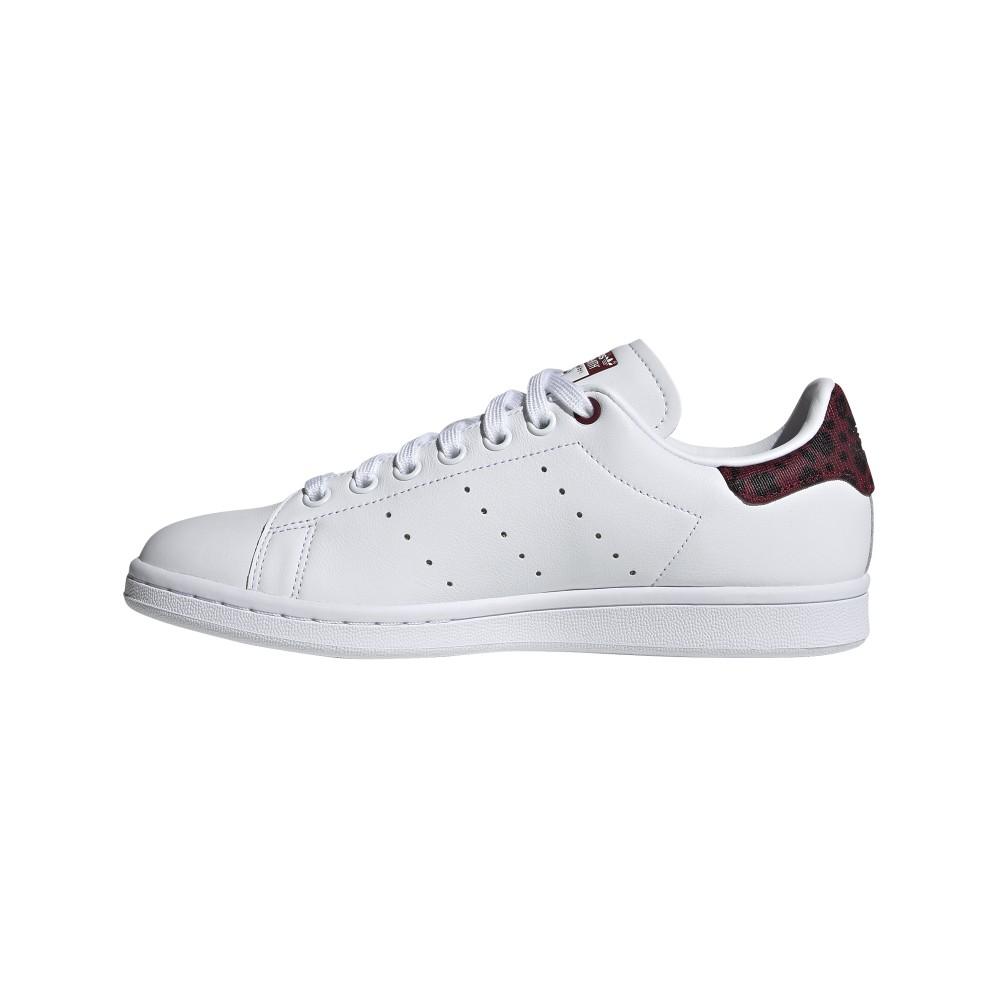 ADIDAS originals sneakers stan smith lea bianco bordeaux