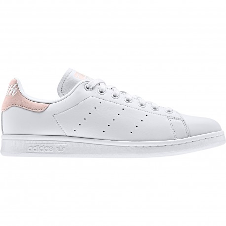 ADIDAS originals sneakers stan smith lea scritta bianco rosa donna