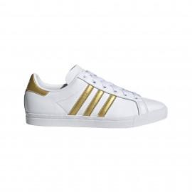 ADIDAS originals sneakers coast star bianco oro donna