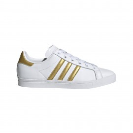 ADIDAS originals sneakers coast star bianco oro donna